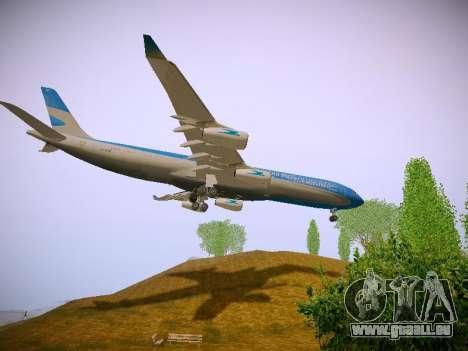 Airbus A340-300 D'Aerolineas Argentinas pour GTA San Andreas vue de côté