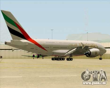 Airbus A380-841 Emirates pour GTA San Andreas vue de droite