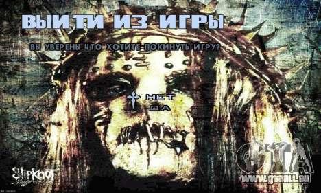 Metal Menu - Slipknot pour GTA San Andreas quatrième écran