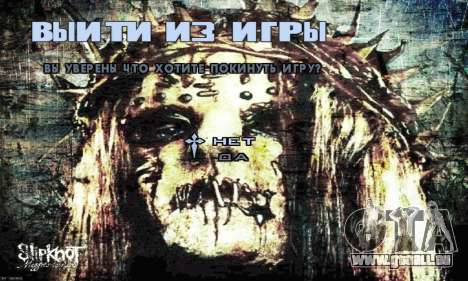 Metal Menu - Slipknot für GTA San Andreas her Screenshot