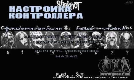 Metal Menu - Slipknot pour GTA San Andreas cinquième écran