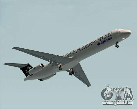 McDonnell Douglas MD-82 Spanair pour GTA San Andreas sur la vue arrière gauche