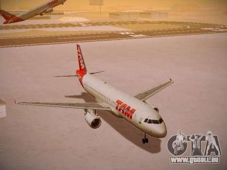 Airbus A320-214 TAM Airlines pour GTA San Andreas vue intérieure
