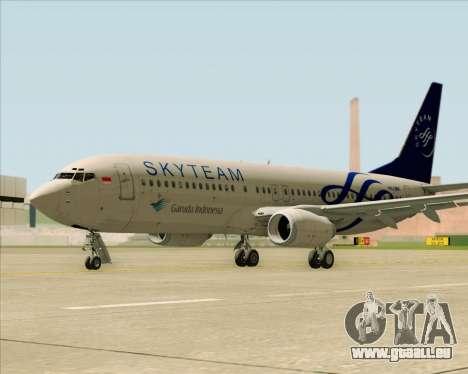 Boeing 737-86N Garuda Indonesia für GTA San Andreas rechten Ansicht