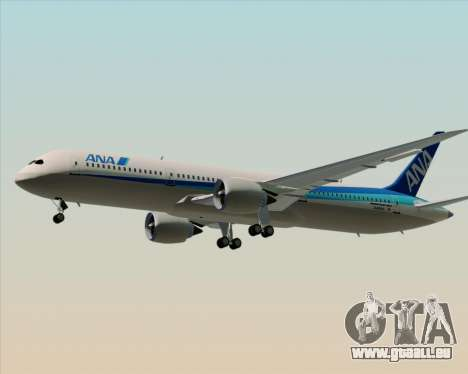 Boeing 787-9 All Nippon Airways für GTA San Andreas Unteransicht