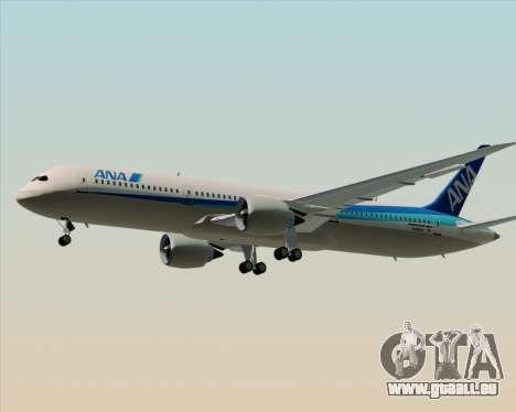 Boeing 787-9 All Nippon Airways pour GTA San Andreas vue de dessous