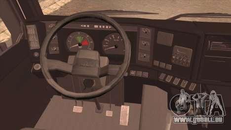 MAZ 6430 pour GTA San Andreas sur la vue arrière gauche