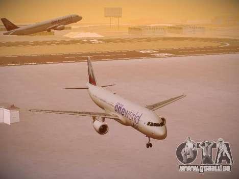 Airbus A320-214 LAN Oneworld pour GTA San Andreas vue arrière