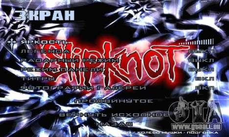Metal Menu - Slipknot für GTA San Andreas siebten Screenshot
