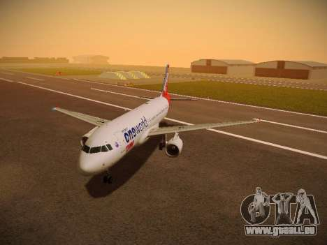 Airbus A320-214 TAM Oneworld pour GTA San Andreas laissé vue
