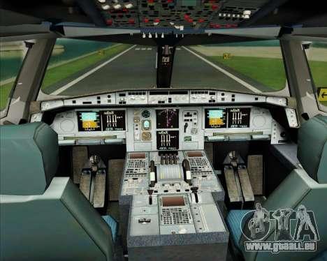 Airbus A380-861 Air France für GTA San Andreas Innen