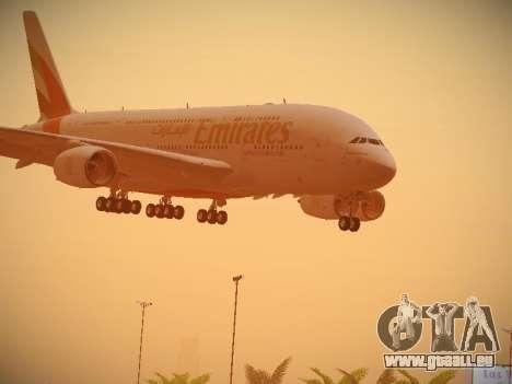 Airbus A380-800 Emirates für GTA San Andreas