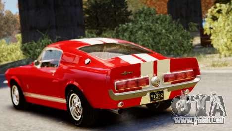 Shelby Cobra GT500 1967 pour GTA 4 Vue arrière