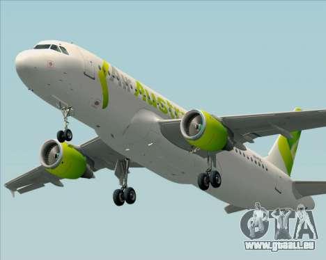 Airbus A320-200 Air Australia pour GTA San Andreas vue de côté
