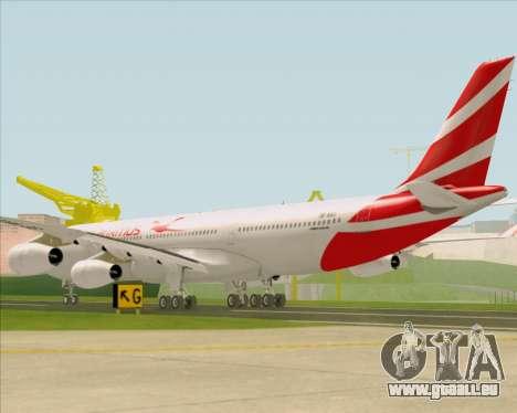Airbus A340-312 Air Mauritius pour GTA San Andreas sur la vue arrière gauche