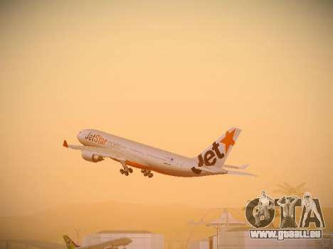 Airbus A330-200 Jetstar Airways pour GTA San Andreas salon