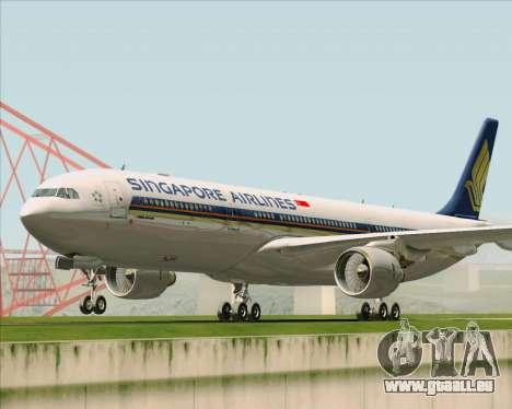 Airbus A330-300 Singapore Airlines für GTA San Andreas zurück linke Ansicht