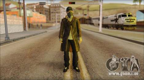 Aiden Pearce from Watch Dogs für GTA San Andreas