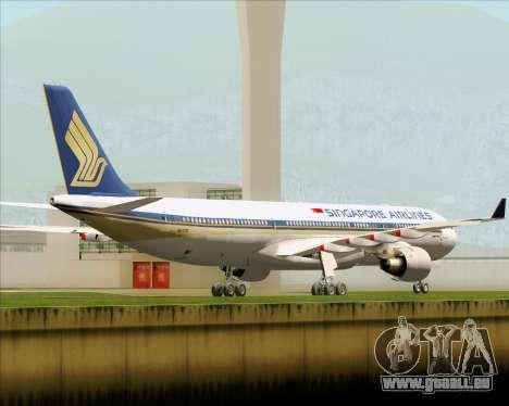 Airbus A330-300 Singapore Airlines pour GTA San Andreas vue de droite