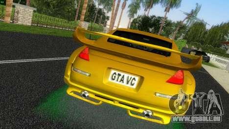 Nissan 350Z Veiside Chipatsu pour GTA Vice City sur la vue arrière gauche