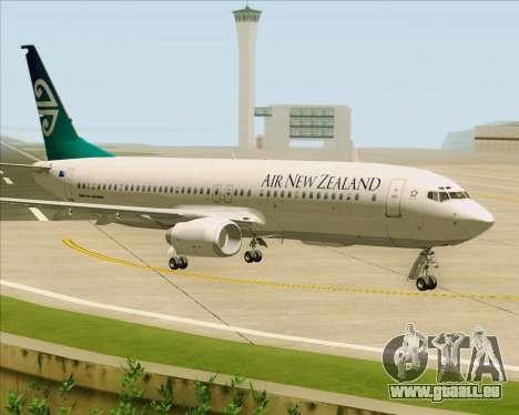 Boeing 737-800 Air New Zealand pour GTA San Andreas laissé vue