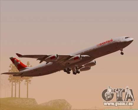 Airbus A340-313 Swiss International Airlines für GTA San Andreas obere Ansicht