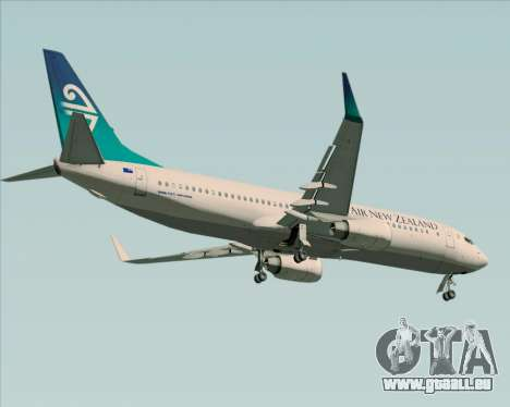 Boeing 737-800 Air New Zealand für GTA San Andreas Innenansicht
