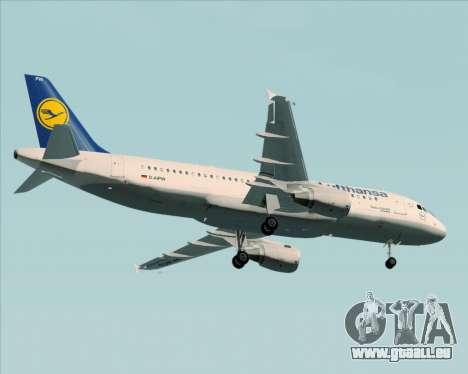Airbus A320-211 Lufthansa für GTA San Andreas obere Ansicht