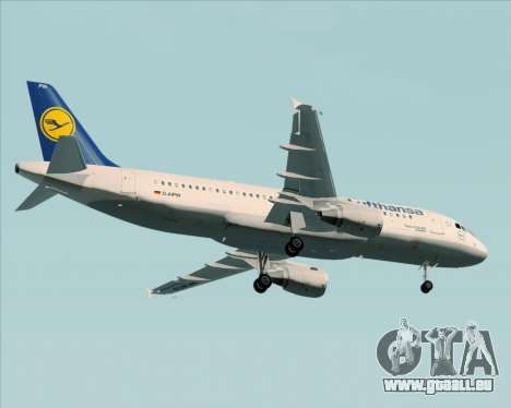 Airbus A320-211 Lufthansa pour GTA San Andreas vue de dessus