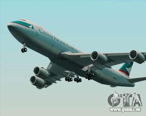 Boeing 747-8 Cargo Cathay Pacific Cargo pour GTA San Andreas sur la vue arrière gauche