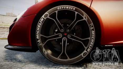 McLaren 650S Spider 2014 [EPM] Michelin v2 pour GTA 4 Vue arrière