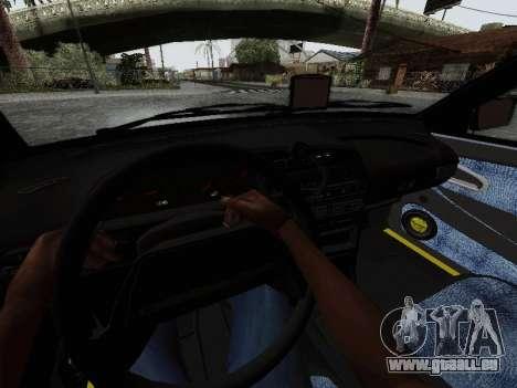 VAZ 2114 TMK postcombustion pour GTA San Andreas vue intérieure