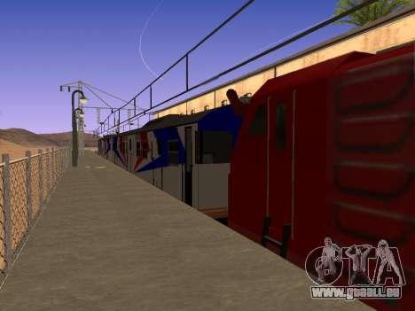 Indonésien train diesel MCW 302 pour GTA San Andreas laissé vue