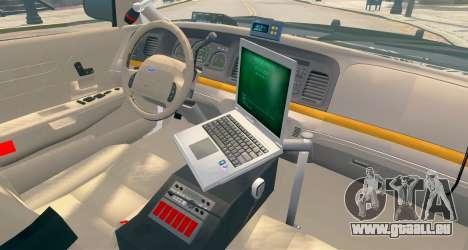 Ford Crown Victoria LCPD [ELS] Pushbar pour GTA 4 Vue arrière