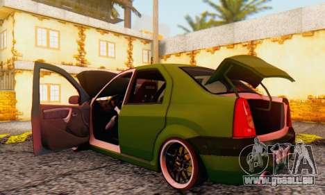 Dacia Logan MOR für GTA San Andreas Innenansicht