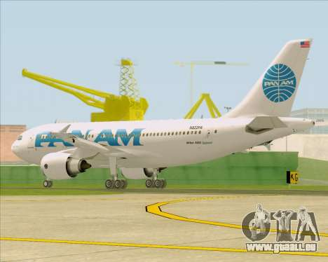 Airbus A310-324 Pan American World Airways für GTA San Andreas rechten Ansicht