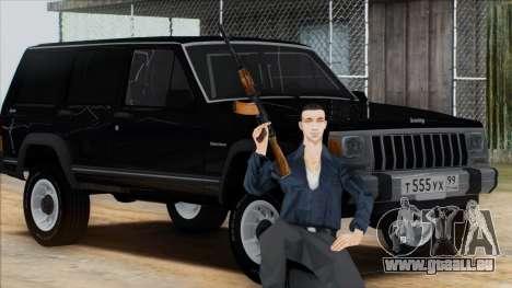 Jeep Cherokee für GTA San Andreas zurück linke Ansicht