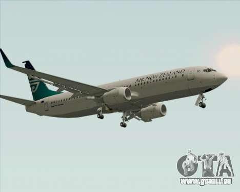 Boeing 737-800 Air New Zealand für GTA San Andreas Unteransicht