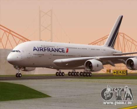 Airbus A380-861 Air France pour GTA San Andreas sur la vue arrière gauche
