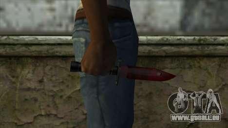 Bayonet M9 pour GTA San Andreas troisième écran