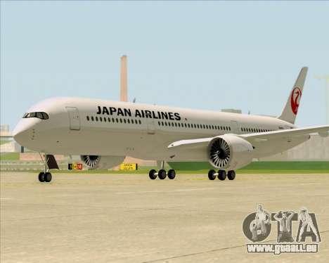 Airbus A350-941 Japan Airlines für GTA San Andreas zurück linke Ansicht