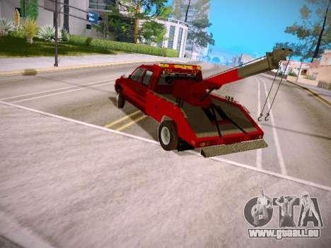 Dodge Ram Tow-Truck für GTA San Andreas zurück linke Ansicht