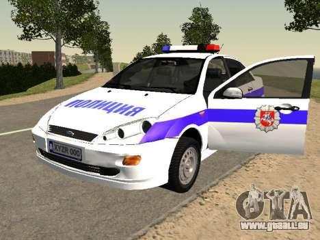 Ford Focus Police de la région de Nijni Novgorod pour GTA San Andreas