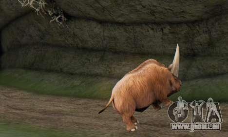 Elasmotherium (Extinct Mammal) pour GTA San Andreas quatrième écran
