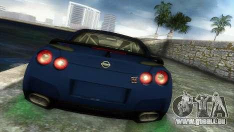 Nissan GT-R SpecV Black Revel pour GTA Vice City sur la vue arrière gauche