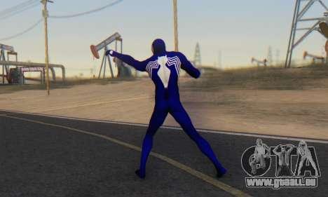Skin The Amazing Spider Man 2 - Suit Symbiot pour GTA San Andreas troisième écran