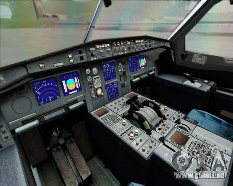 Airbus A340-642 Iberia Airlines pour GTA San Andreas vue intérieure