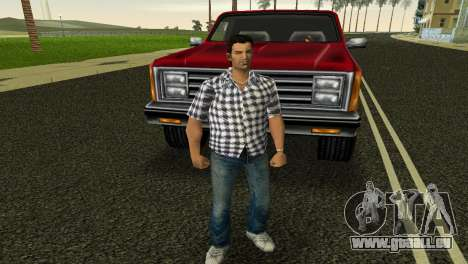 Kockas polo - feher T-Shirt pour GTA Vice City