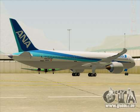 Boeing 787-9 All Nippon Airways für GTA San Andreas Rückansicht