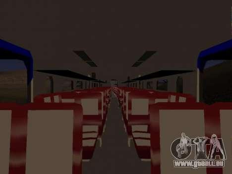 Indonesische diesel-Zug MCW-302 für GTA San Andreas zurück linke Ansicht
